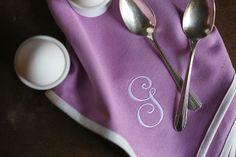 Dinner Napkin in Orchid | Hen House Linens #eastertable