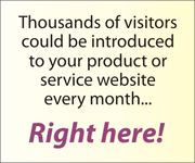 Promote your product or service to thousands of viewers per month - right here!