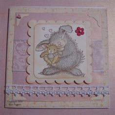 Cards By Kim: House Mouse.............  sweet baby card