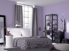 Light Purple Bedrooms - Interior Design Ideas Bedroom Check more at http://maliceauxmerveilles.com/light-purple-bedrooms/