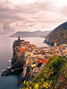 Peninsula, Vernazza, Cinque Terre, Italy