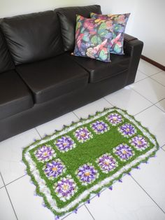 Crochet rug ♥️LCR-MRS♥️ with diagrams.
