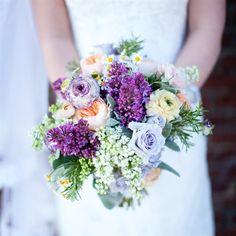 Fresh Purple Bridal Bouquet