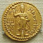 Mahasena on a coin of Huvishka