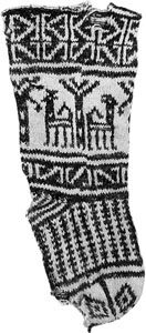 Childs sock.  Egypt, probably the city of Fustat, near Cairo   Possibly 11-12th C. Fatimid; or 12-13th C. Ayyubid; or 13-15th C. Mamluk    More info: http://home.earthlink.net/~urtatim/Ibex_Sox-docu.html