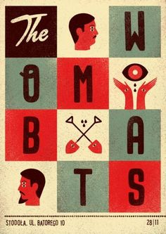 The Wombats. Poster design: Talkseek (2011).