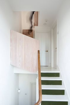 39 Inspiring Painted Stairs Ideas Staircase design, Stairs d… Open Basement Stairs, Modern Basement, Basement Bedrooms, Painted Staircases, Painted Stairs, Timber Stair, Ideas Hogar, Staircase Design, Open Staircase