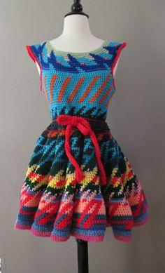Best Vintage Crochet Dress Ever by Marsdenfinds on Etsy, $225.00