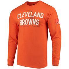 Men s Orange Cleveland Browns Fade Route Long Sleeve T-Shirt Orange 8aca9eddf