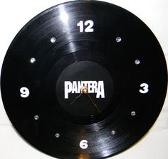 PANTERA Inspired Vinyl Record Wall Clock by PandorasRecordArt, $25.00