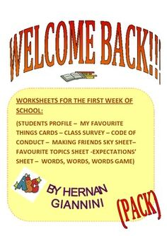 WELCOME BACK TO SCHOOL  (MINI LESSONS WITH GAMES)