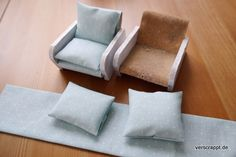DIY-Projekt Puppenhaus: alte Sessel neu beziehen - Tutorial