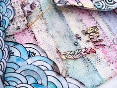 My Scrap Therapy - black and white art that is perfect for mixed media - Tattered Tangles Packs by Tattered Angels - you color in and outside of the lines!!!