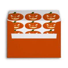 Wicked Halloween Jack o Lanterns stationery envelopes