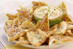 ... za atar pita bread za atar pita chips with yogurt dip recipes dishmaps