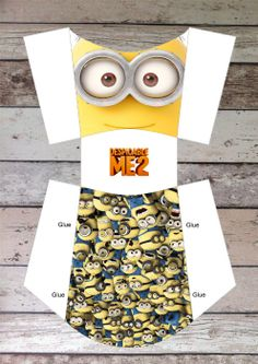 Despicable me Minions Printable Fries/ Snack Box, Digital Pdf File for Minion Birthday Party Theme