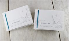 Menükarte, Tischkarte, Danksagung und Hochzeitsalbum................
