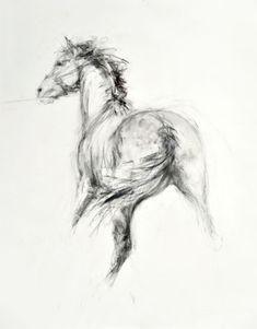 Pulling Away II Original Equestrian Art for sale