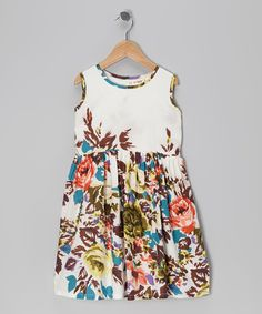 Take a look at this White Floral A-Line Dress - Toddler & Girls on zulily today!