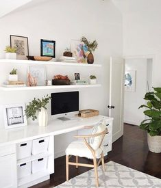 Minimalist Home Decorating Interior Design minimalist bedroom interior home office.Minimalist Home Ideas Chairs. Home Office Decor, Interior, Home, Minimalist Living Room, Minimalist Bedroom, Living Room Decor Rustic, Shelves Above Desk, Minimalist Home, Office Design