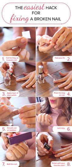 This DIY trick for fixing a broken nail is so easy. All you need is a tea bag and some polish. There's no glue required. It's that simple!