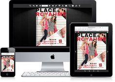 Ce printemps, découvrez le nouveau magazine interactif de Place du Royaume, une conception Yodia. Place, Magazine, Baby Newborn, Spring, Magazines