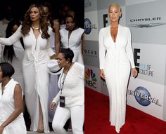 Ms. Tina Knowles And Amber Rose In Roland Mouret, Who Wore It Better? #tinaknowles #Amberrose