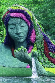 Beautiful Gardens, Beautiful Flowers, Beautiful Places, Montreal Botanical Garden, Botanical Gardens, Topiary Garden, Garden Art, Topiaries, Amazing Nature