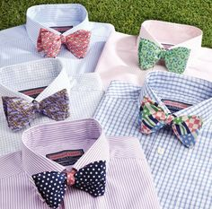 Oh, my God. You know you're a gleek if you saw these bow ties and went BLAINE! If not, well, you'd think they were just a bunch of weird/classy bowties with ordinary shirts.