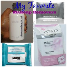 Favorite Makeup Removers