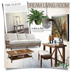 Dream Living Room by clotheshawg on Polyvore featuring polyvore interior interiors interior design home home decor interior decorating Sarreid Klaussner Lostine Nearly Natural living room
