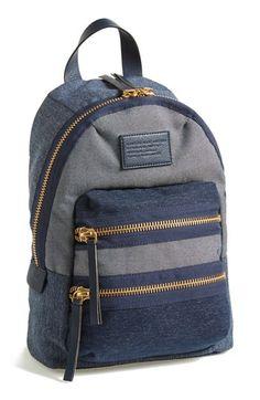 Sporty denim backpack ~ CE♥                                                                                                                                                     Más