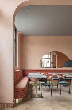 Omar's Place, a modern Mediterranean restaurant in London - via Mur-Beton Design blog