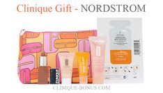 Receive a free 6-piece gift from Nordstrom when you spend $49.50 on Clinique. Clinique Gift, Nordstrom, Debenhams, Anniversary Sale, Beauty Bar, Estee Lauder, Lancome, Cosmetic Bag, Free Gifts