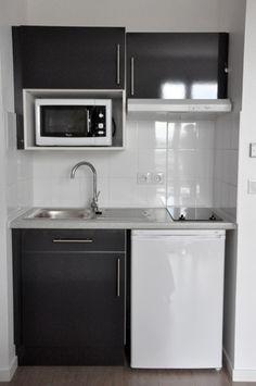 kitchenette ikea et autres mini cuisines au top cuisines kitchens pinterest plan de. Black Bedroom Furniture Sets. Home Design Ideas