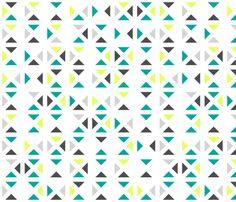 80s whitespace triangles fabric by ravynka on Spoonflower - custom fabric