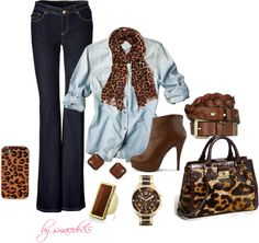 """leopard outfit"" by smacedo85 on Polyvore"