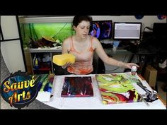 How I Varnish My Fluid Acrylic Paintings - YouTube