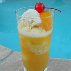 Peach Cooler Recipe - Tastes great on a hot day! Easy to make and satisfies your thirst!