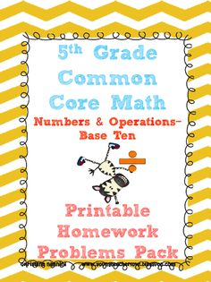 Numbers and Operations in Base Ten- Common Core Homework Pack WITH ANSWER KEYS!!! (Expanded form, decimals, word form, exponents, and more!!) These are perfect for morning work, homework, assessments, games, and more!!!