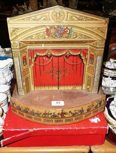Tennants Auctioneers: Pollocks toy theatre in the Victorian style with original box