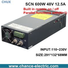 94.00$  Buy here - http://aligrr.worldwells.pw/go.php?t=32645064175 - 48v 12.5a switching power supply  SCN 600W 110~220VAC SCN single output  for cnc cctv led light(SCN-600W-48V)