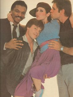 sushikins:  Billy Dee Williams, Mark Hamill, Carrie Fisher & Harrison Ford, photographed by Annie Liebovitz Rolling Stone, The Year in Music & Entertainment 1980