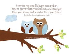 Promise Me Owls in Blue and Brown-Nursery Art Kids Wall Art Baby Boy Room Decor by vtdesigns on Etsy, $14.00