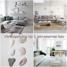 VERKOOPSTYLING TIP. Zorg ervoor dat je huis er zo neutraal mogelijk uitziet. Verf de muur in een zachte, lichte, neutrale (pastel) kleur. En ruim zoveel mogelijk persoonlijke spullen en prullaria op.