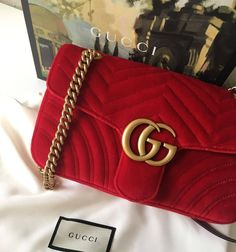 e115c4c4 While red can be a risky color and perhaps not always practical, this bag  would be stunning with a LBD or neutral toned outfit!