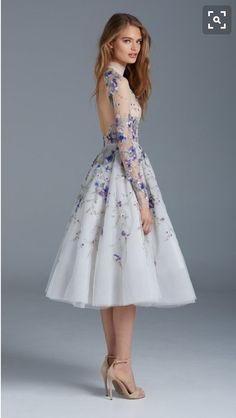 Enchanting icy blue midi gown - needs to be longer.