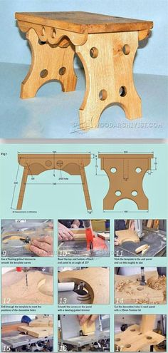 Oak Footstool Plans - Furniture Plans and Projects | WoodArchivist.com