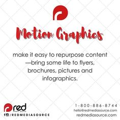Make it easy to repurpose content --- bring some #life to #flyers, #brochures, #pictures and #infographic.  Need help with your flyers, video or website? Check our website or contact us at 1 800 886 8744 or hello@redmediasource.com  #flyerdesigns #clubflyers #clubdesigns #graphicdesign