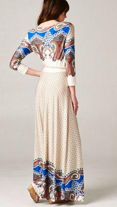 Long vintage inspired maxi dress Shannasthreads.com ( Instagram shannas_threads)